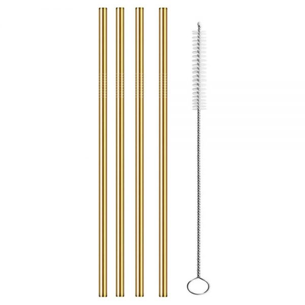 Metal straw gold - Mr Turtle Strawie