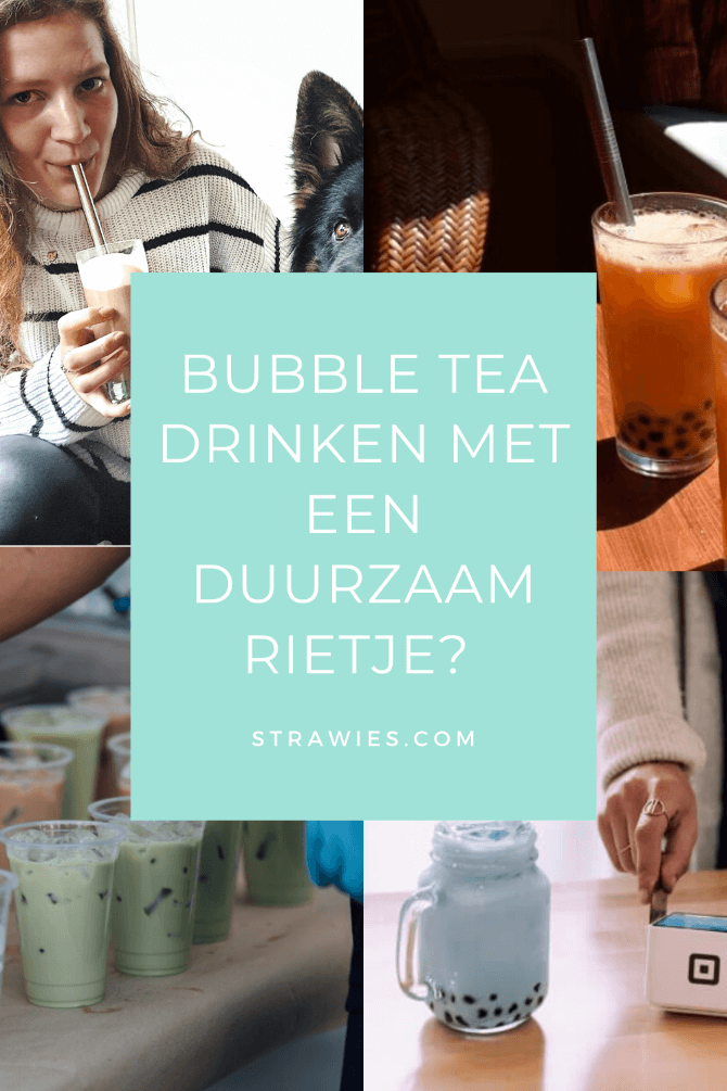 bubble tea rietje (ook boor smoothies)